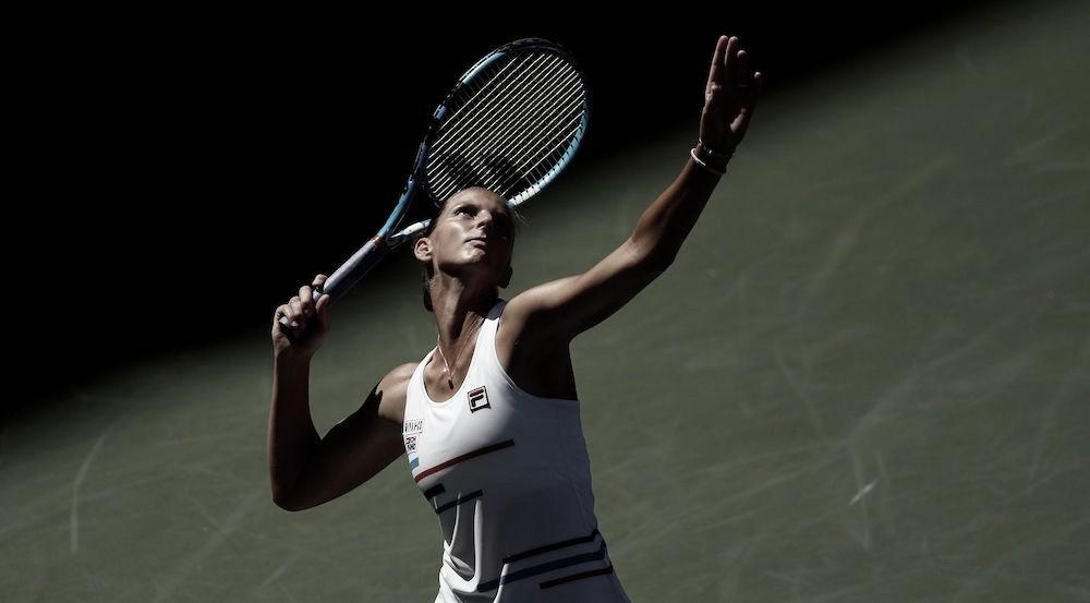 Após susto no primeiro set, Pliskova aplica 'pneu' e bate Kalinina na estreia do US Open
