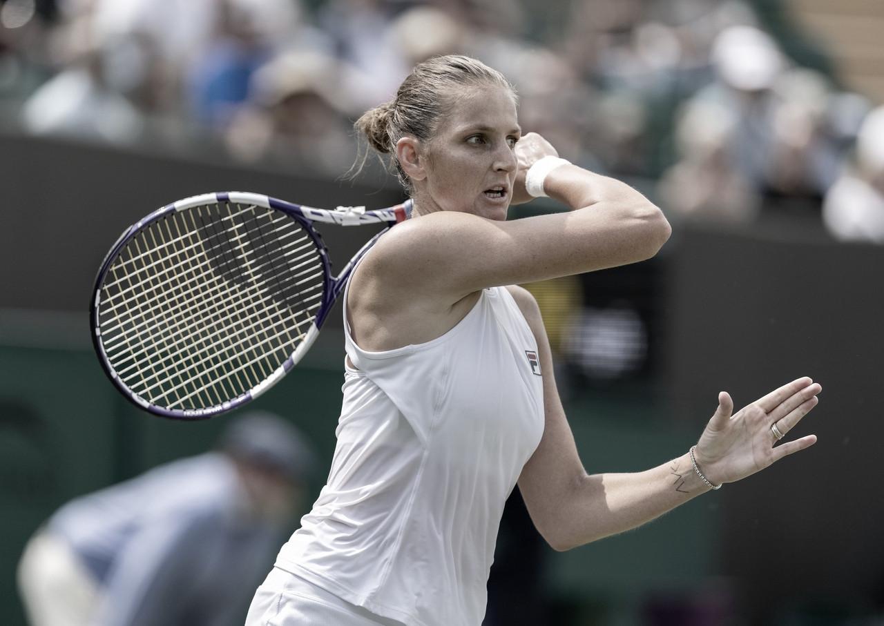 Pliskova, Sabalenka e Swiatek seguem em Wimbledon; Samsonova derruba Stephens