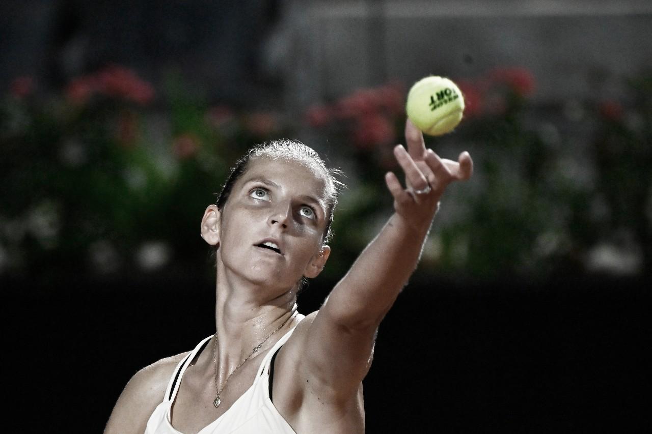 Pliskova derrota Mertens e dá mais um passo na defesa do título em Roma