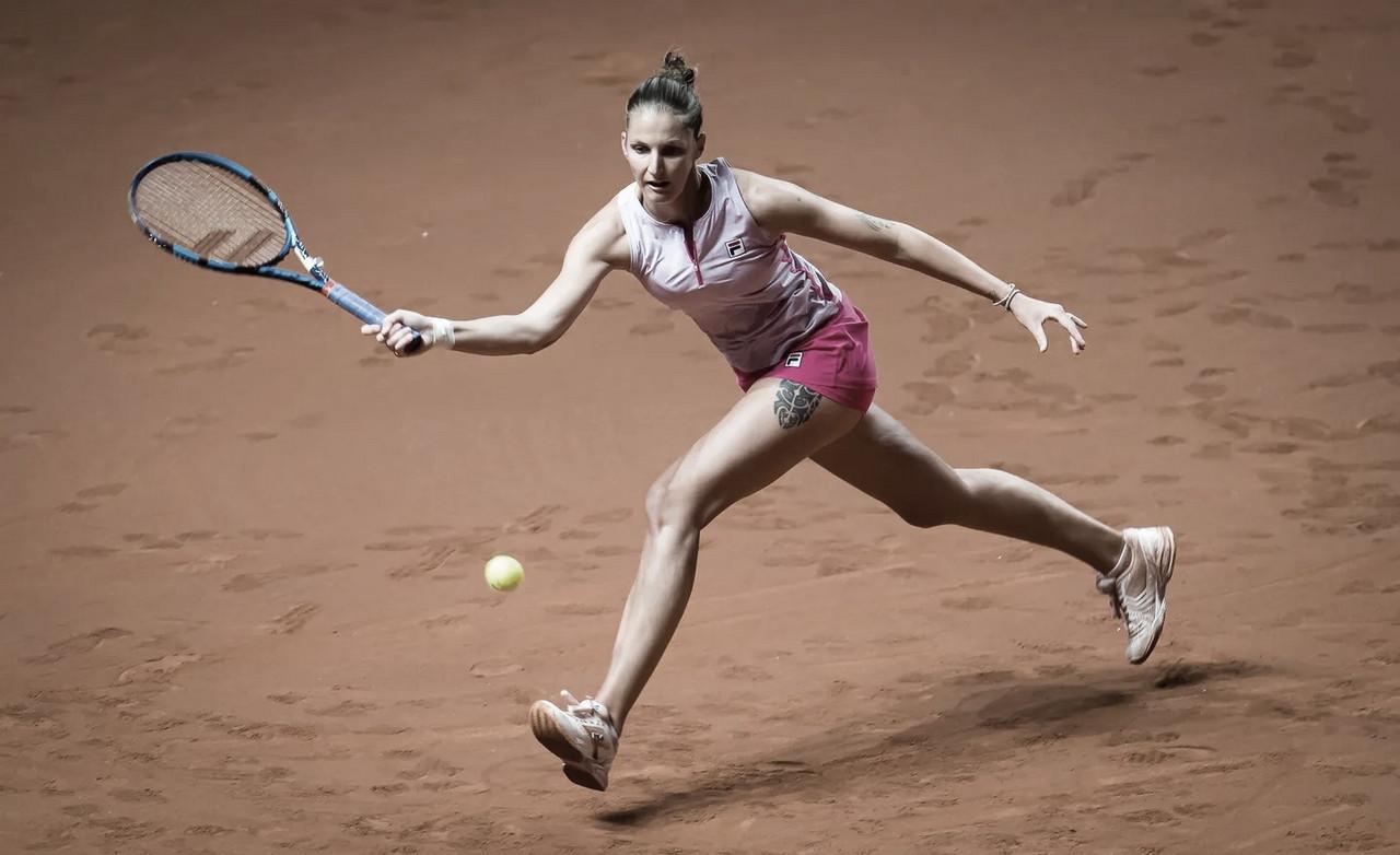 Pliskova iguala recorde pessoal de aces e bate Ostapenko em Stuttgart; Sabalenka também avança