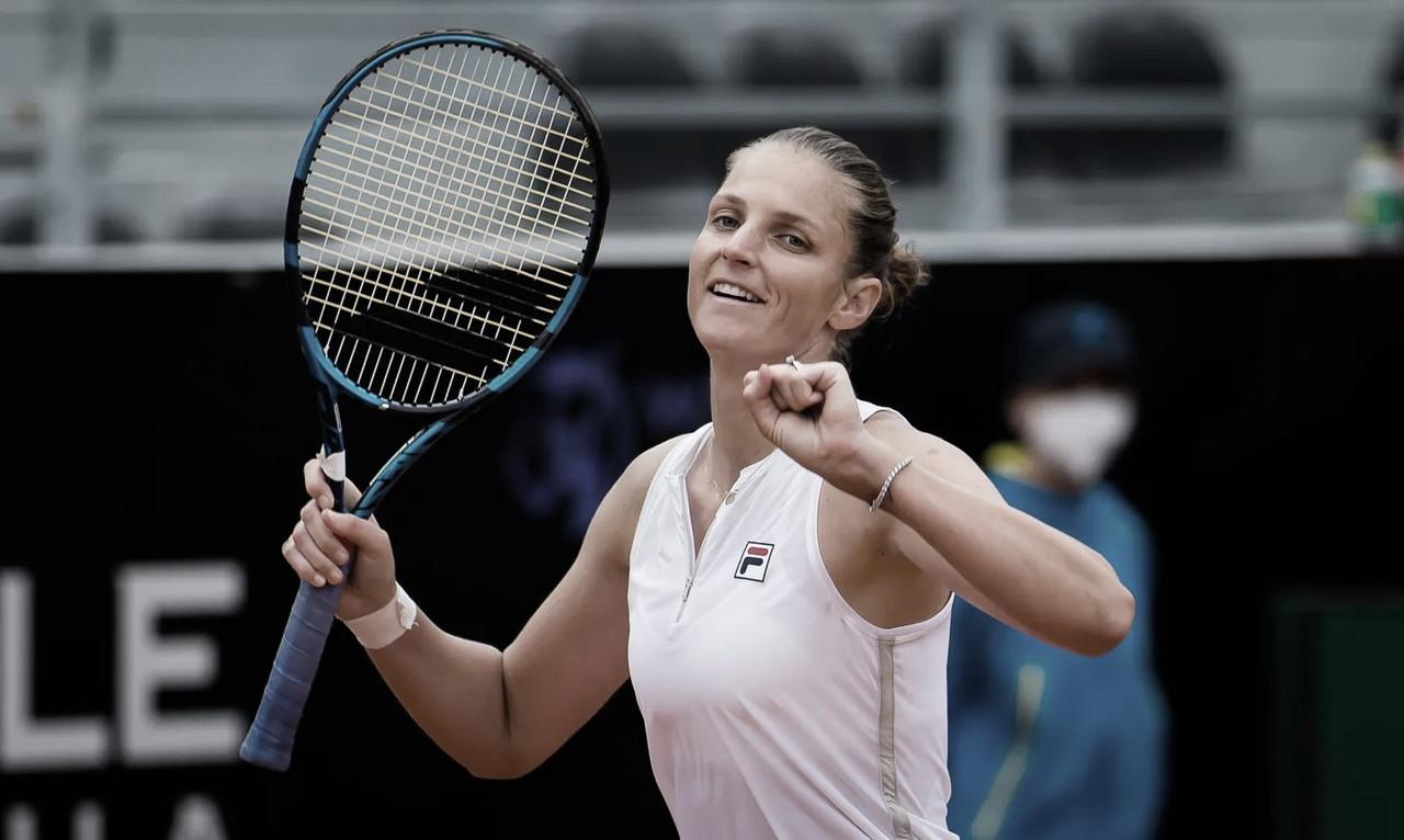 Pliskova salva três match points e sobrevive a desafio contra Ostapenko em Roma