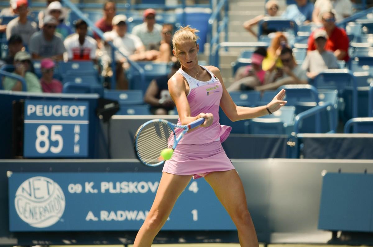 WTA Cincinnati: Karolina Pliskova finds a way into round two