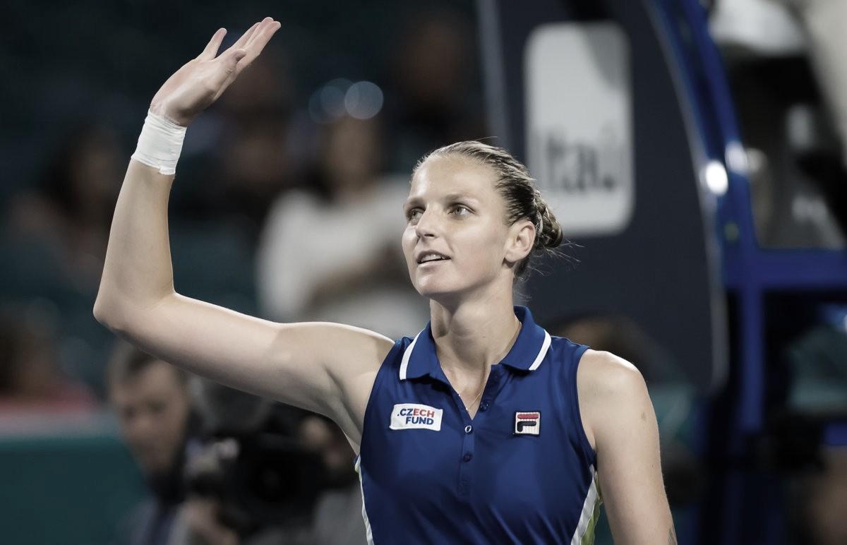 Pliskova passa por compatriota Vondrousova e alcança semifinal em Miami
