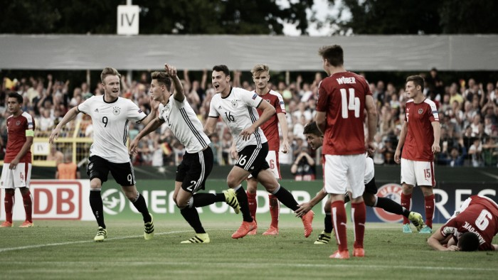 Austria under-19 0-3 Germany under-19: Hosts' hopes of World Cup berth still alive