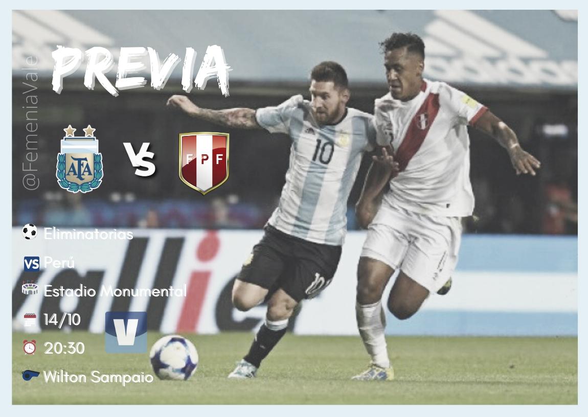 Eliminatorias: Argentina vs Perú