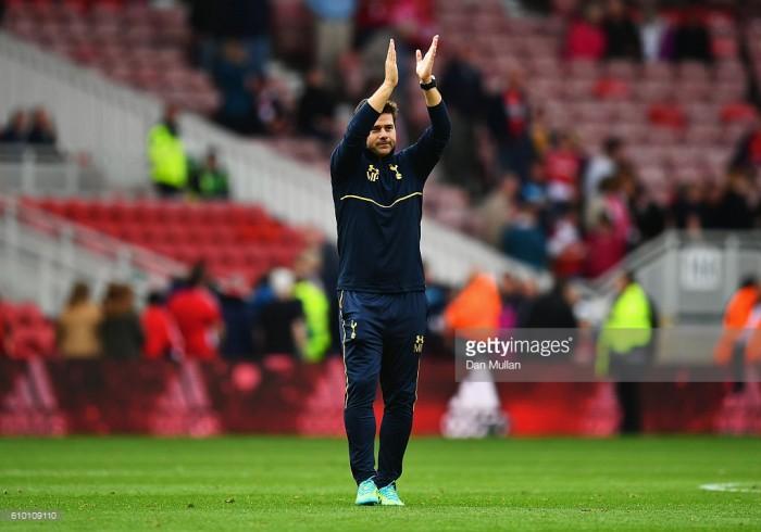 Mauricio Pochettino a happy man as Tottenham keep unbeaten run going at Middlesbrough