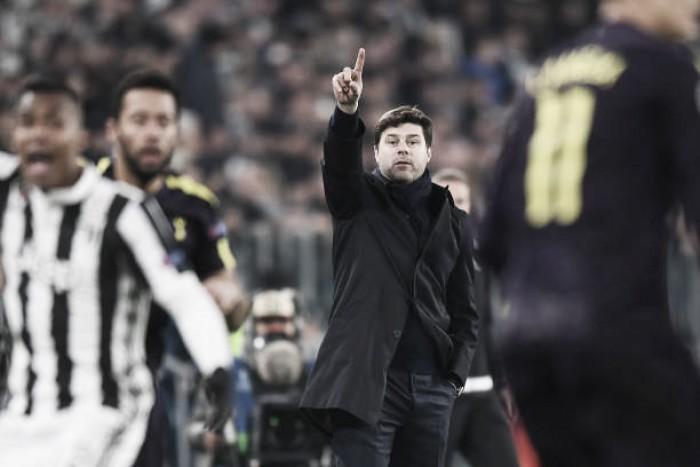 """Técnico do Tottenham, Pochettino exalta busca do empate contra Juventus: """"Atuação fantástica"""""""