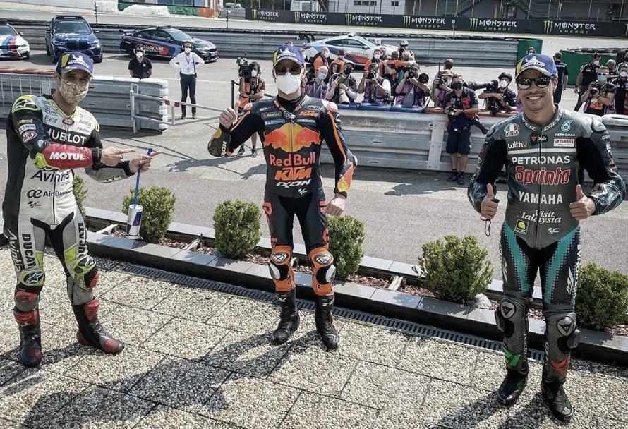 Brad Binder, el rookie de KTM , conquista lo más alto del podio en Brno
