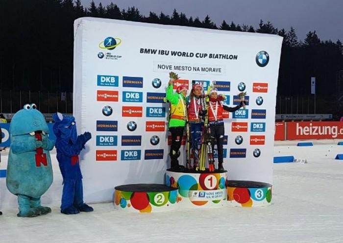 Biathlon - Nove Mesto, mass start femminile: Koukalova fa impazzire il pubblico ceco, altro podio per Wierer