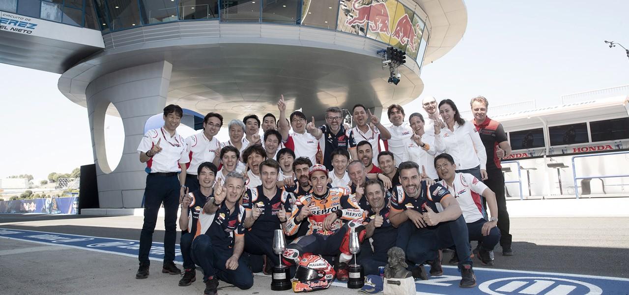 Los triunfadores en Jerez de la mano de Honda