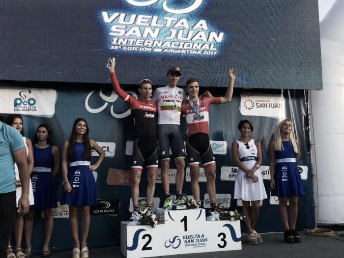 Vuelta a San Juan, Navardauskas prende tappa e maglia
