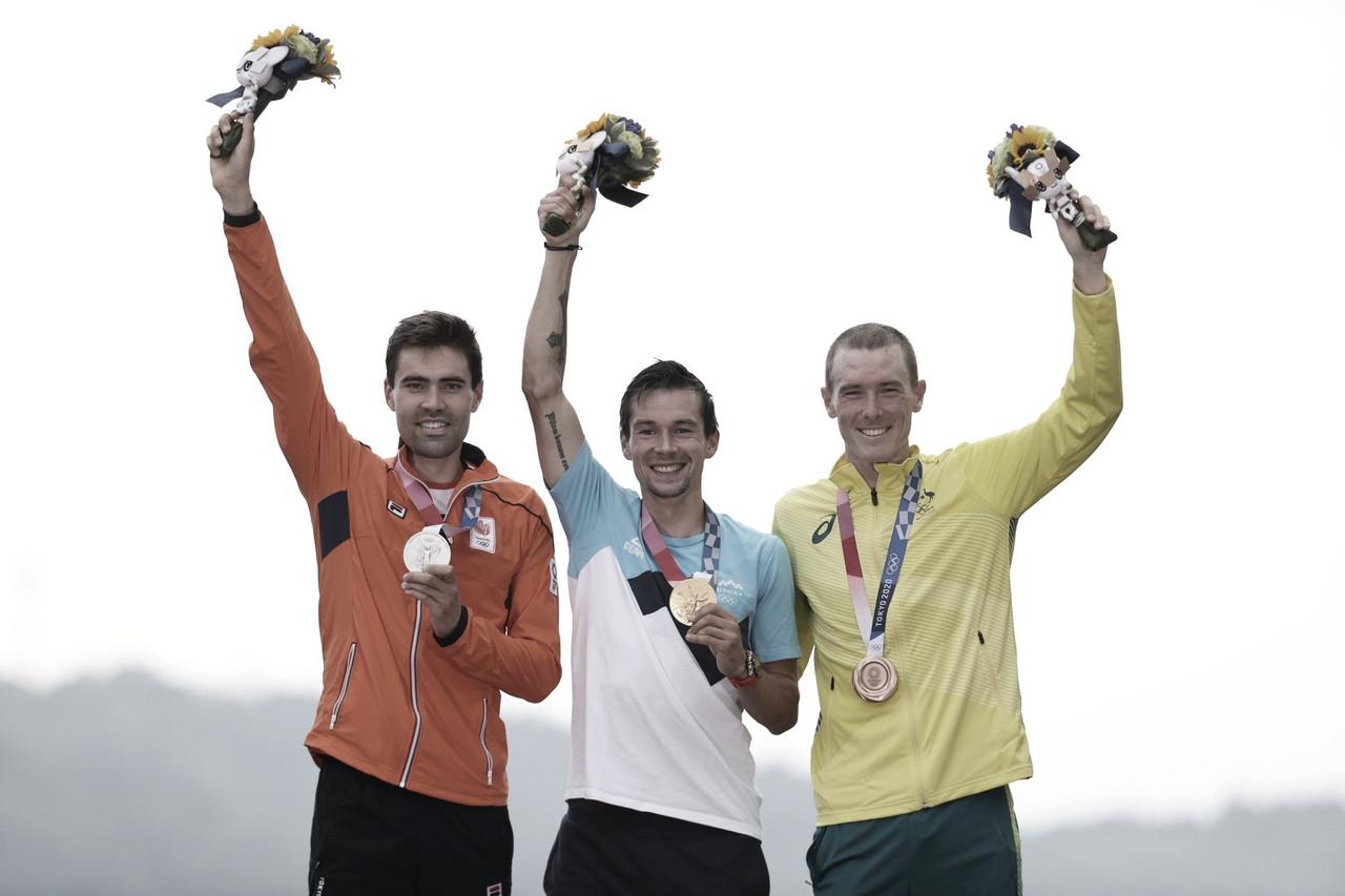 Primoz Roglic vuela en Fuji para lograr el oro en la CRI