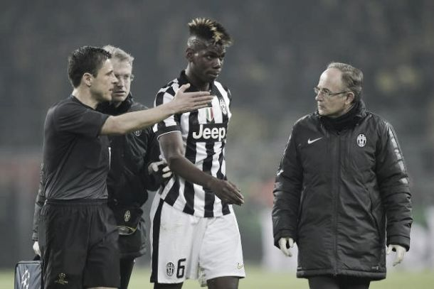 Paul Pogba out for two months with torn thigh muscle