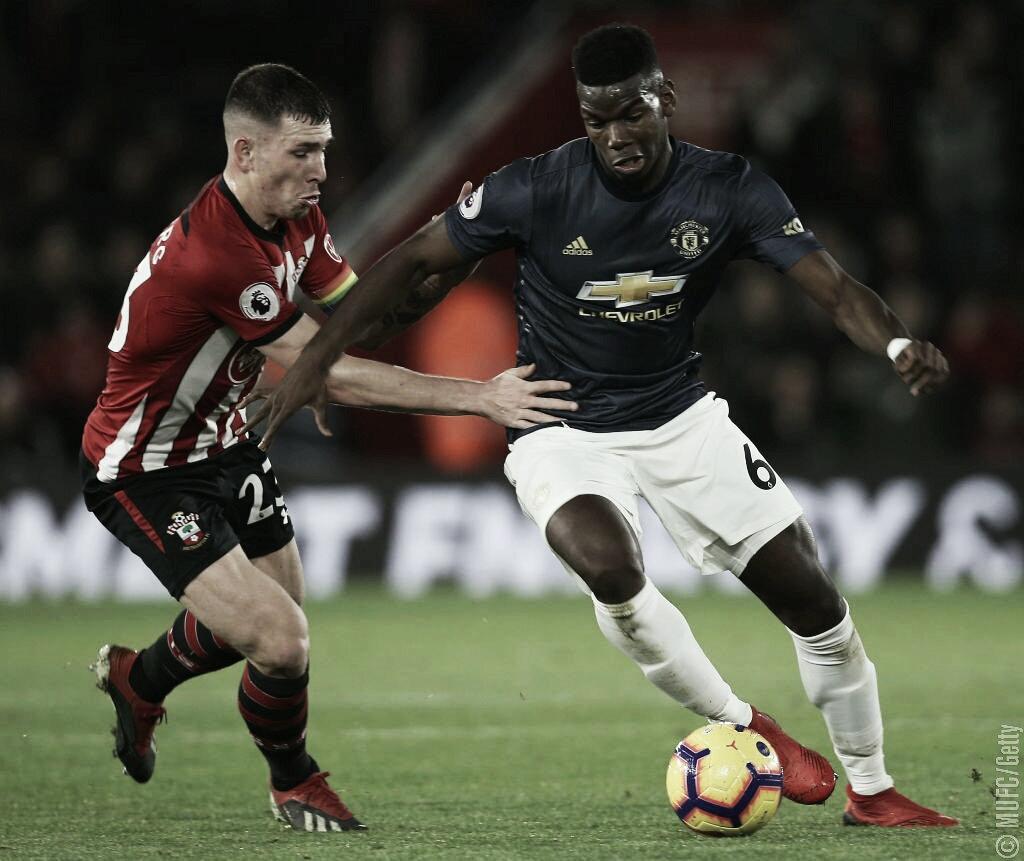 Com emoção apenas no primeiro tempo, Southampton e Manchester United empatam