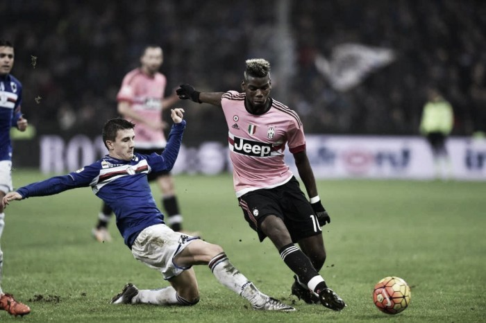 Partita Juventus-Sampdoria in Serie A 2016 (5-0 Evra, Dybala, Dybala, Chiellini, Bonucci)