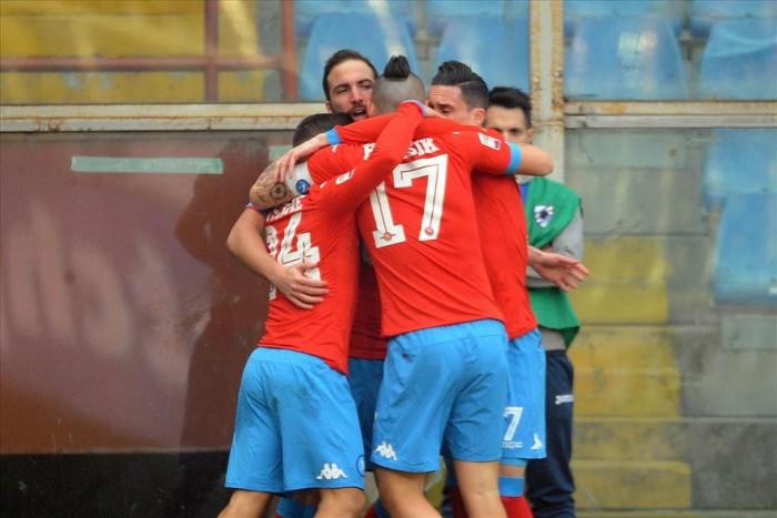 Napoli a valanga: poker alla Sampdoria, manita al campionato