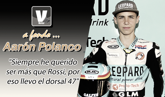 """Aarón Polanco, a fondo:""""Siemprehe querido ser más que Rossi,por eso llevo el 47"""""""