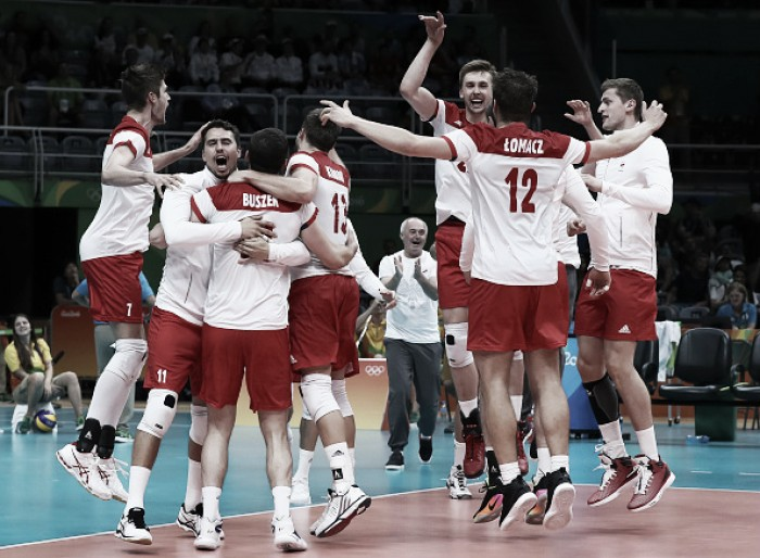 Polônia triunfa sobre Argentina e lidera Grupo B do vôlei masculino na Rio 16
