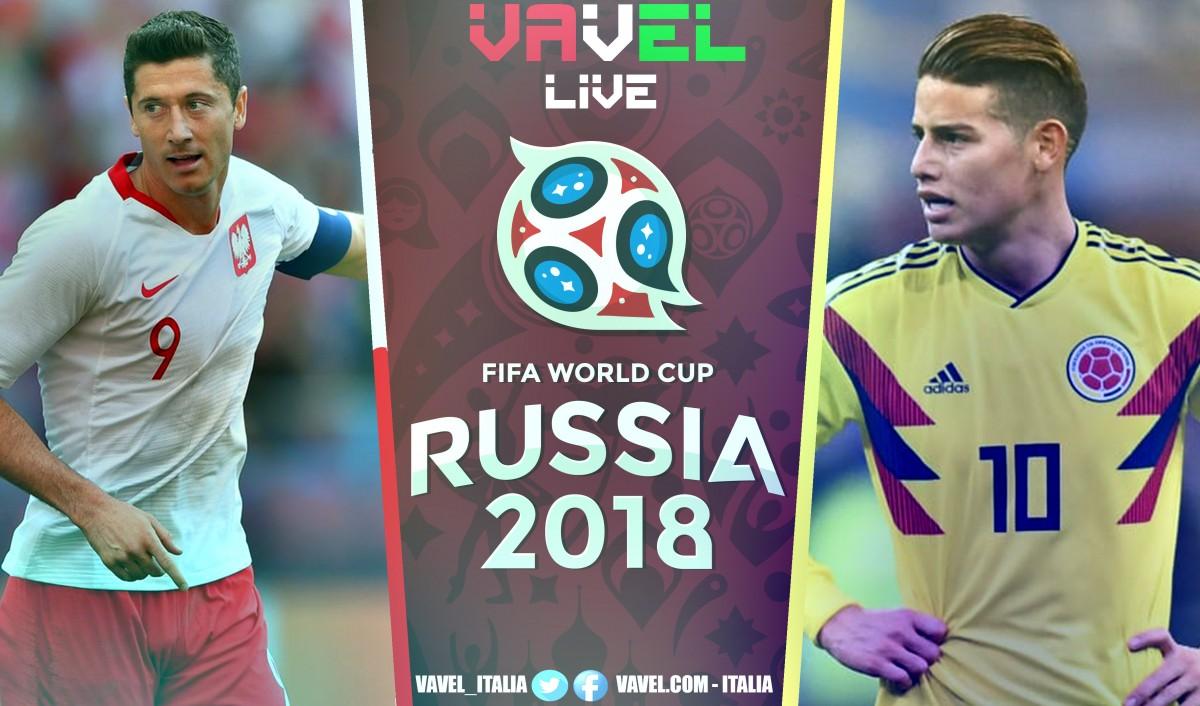 Polonia - Colombia in diretta, Mondiale Russia 2018 LIVE: 0-3 per la Colombia! Polonia eliminata