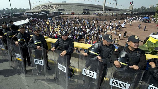 Mega operativo de la SSPDF para el Pumas - Chivas