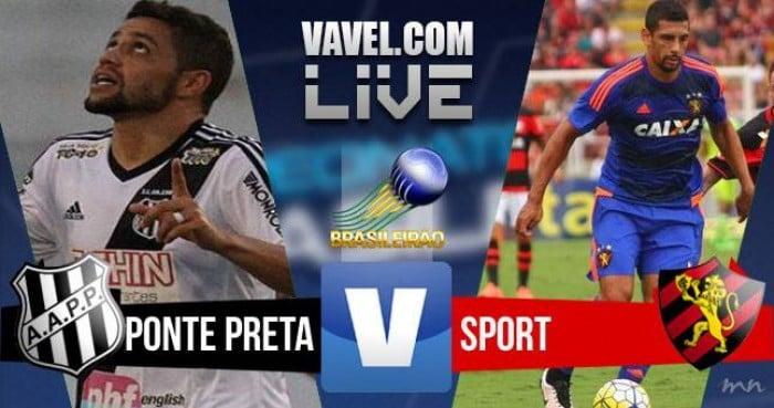 Resultado Ponte Preta x Sport no Campeonato Brasileiro 2016 (2-1)