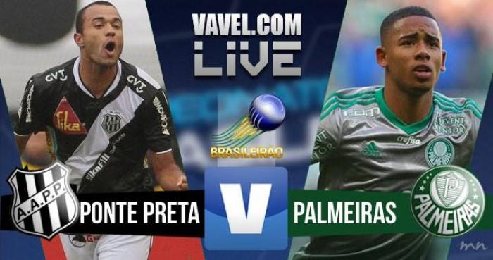 Resultado Ponte Preta x Palmeiras no Campeonato Brasileiro 2016 (2-1)
