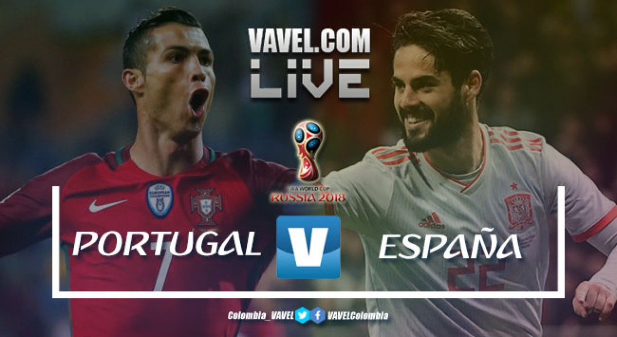 Resumen Portugal vs España (3-3)