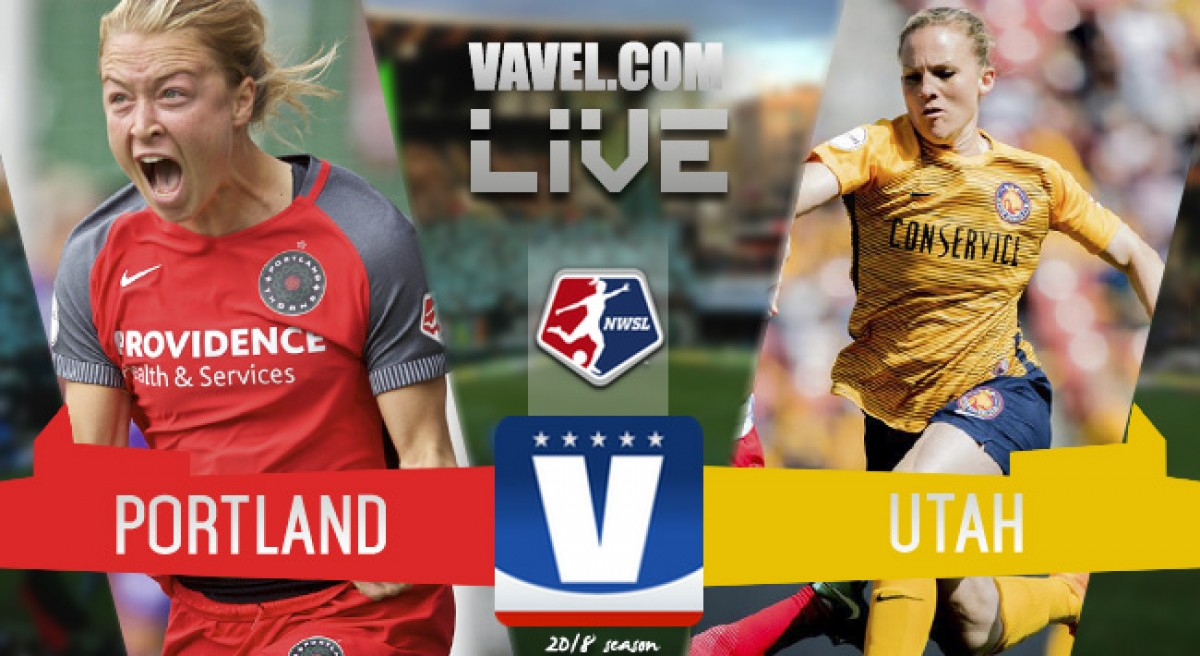 Result: Portland Thorns FC 2-0 Utah Royals FC in the 2018 National Women's Soccer League