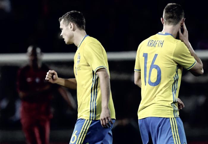 Amichevoli - Il Portogallo vola, poi si scioglie: all'ultimo secondo, l'autogol di Cancelo premia la Svezia (2-3)