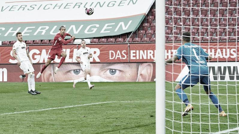 "<font color=""#a00029"" face=""Google Sans, arial, sans-serif""><span>Yussuf Poulsen marcó uno de los mejores goles del campeonato para que RB Leipzig siga líder | Foto: bundesliga.com</span></font>"