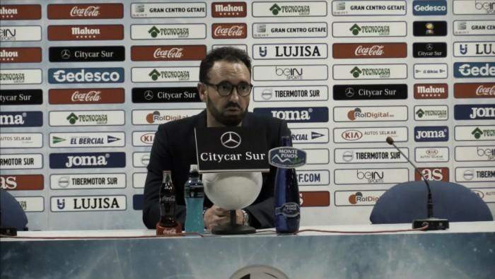 """José Bordalás: """"El equipo ha sido muy generoso y no puedo reprocharle nada"""""""