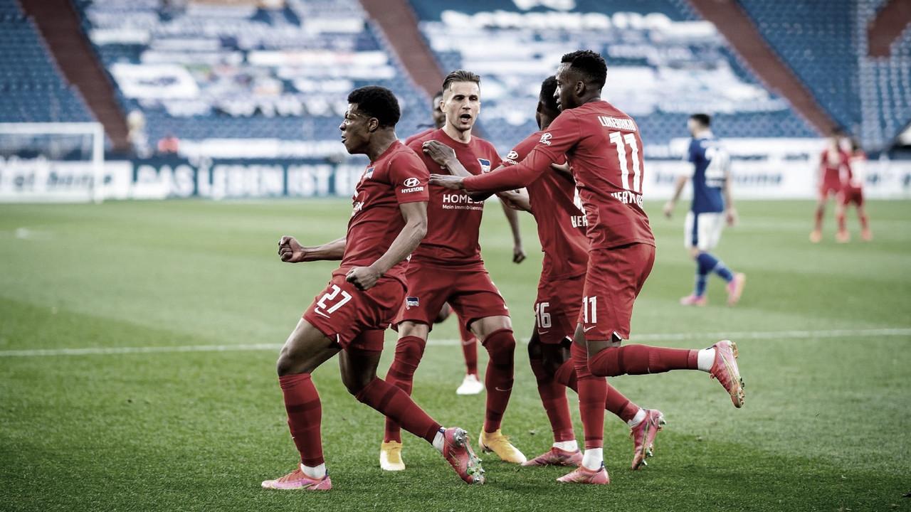 En final de infarto, Hertha BSC vence a Schalke 04 y escapa del descenso