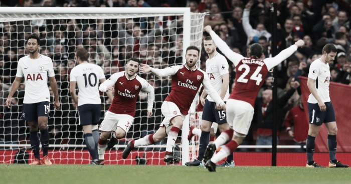 Resumen Tottenham 1-0 Arsenal  en Premier League 2018