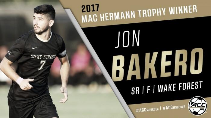 Jon Bakero gana el MAC Hermann Trophy
