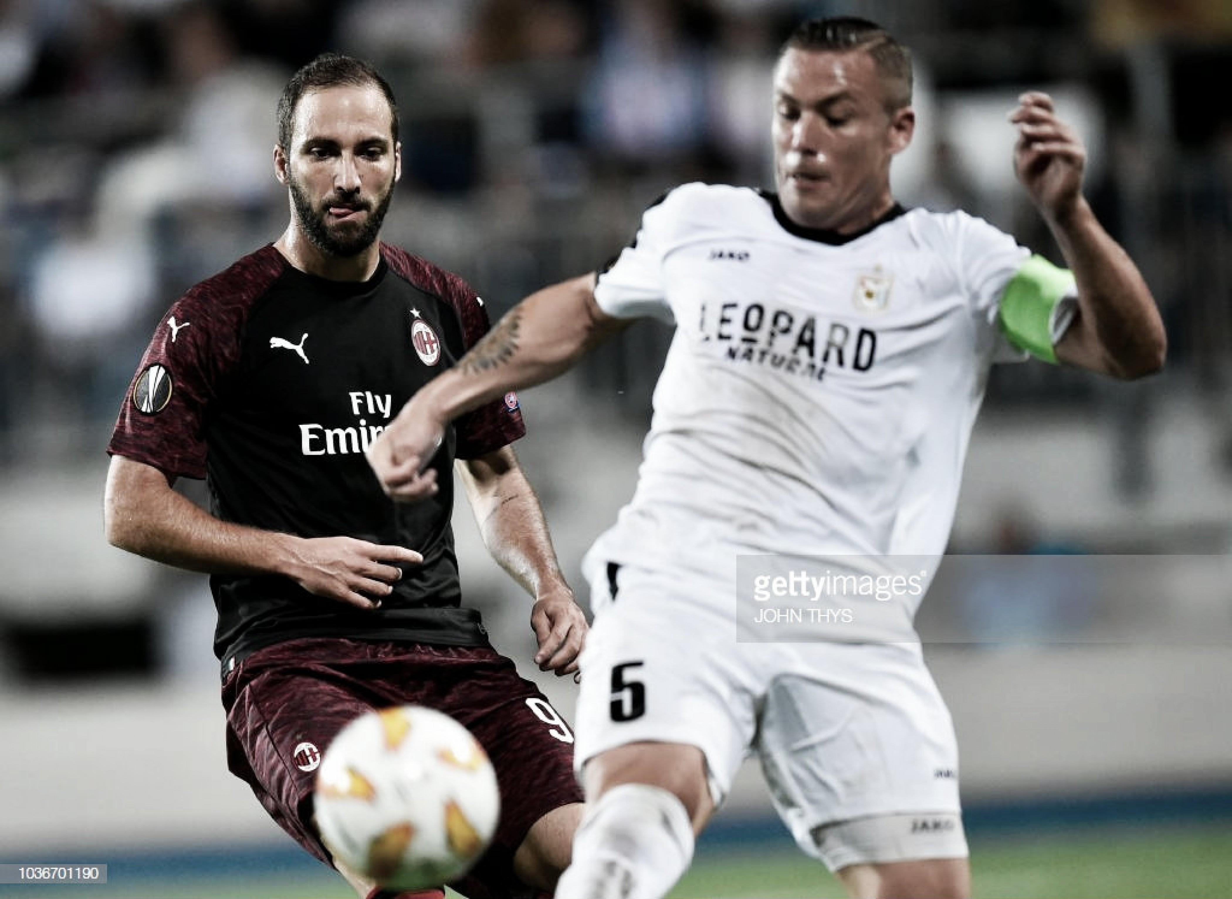 El Milan debuta con buen pie ante un combativo Dudelange