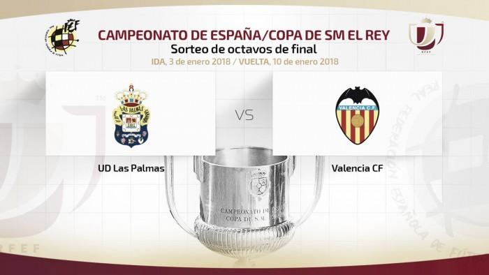 El Valencia se enfrentará a la UD Las Palmas en octavos de Copa