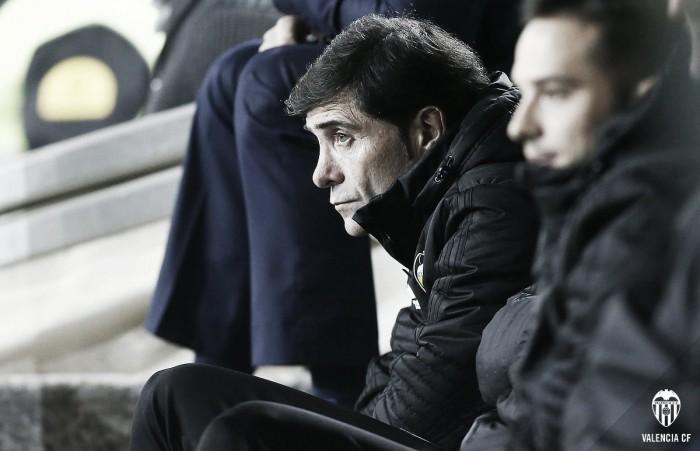 """Marcelino: """"La idea es encajar menos goles que hasta ahora y tenemos que seguir por este camino"""""""