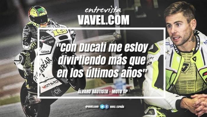 """Entrevista. Álvaro Bautista: """"Con Ducati me estoy divirtiendo más que en los últimos años"""""""