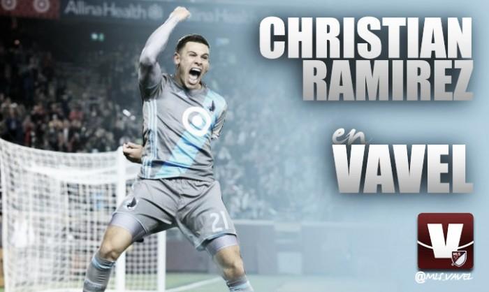 """Entrevista. Christian Ramirez: """"Seguiré marcando goles para ayudar a crecer a Minnesota United"""""""