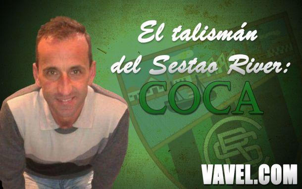 """Entrevista. """"Coca"""": """"Nos viene bien jugar el partido de ida en Las Llanas"""""""