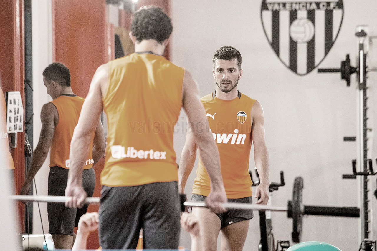 El Valencia trabaja en el gimnasio