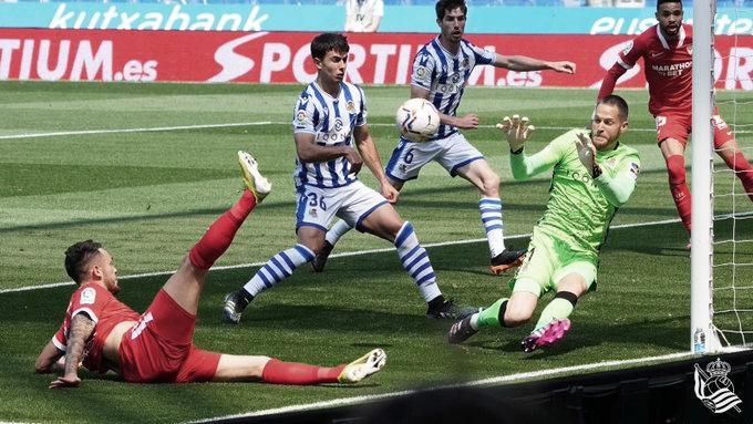 Real Sociedad - Sevilla: puntuaciones de la Real Sociedad, 33ᵃ Jornada de LaLiga Santander