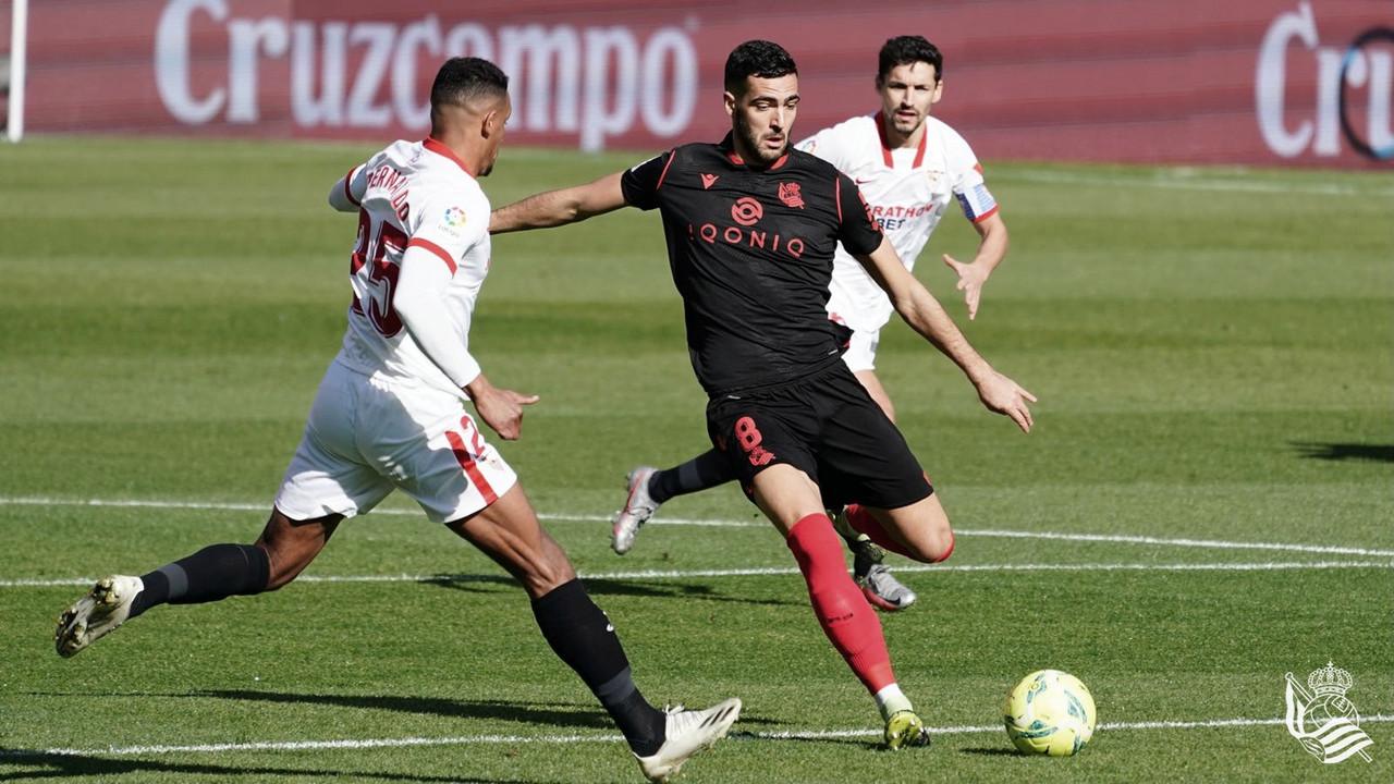 Sevilla FC - Real Sociedad: puntuaciones de la Real Sociedad, 18ᵃ Jornada de LaLiga