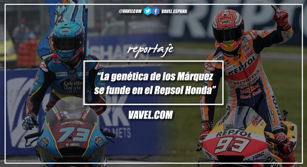 La genética de los Márquez se funde en el Repsol Honda