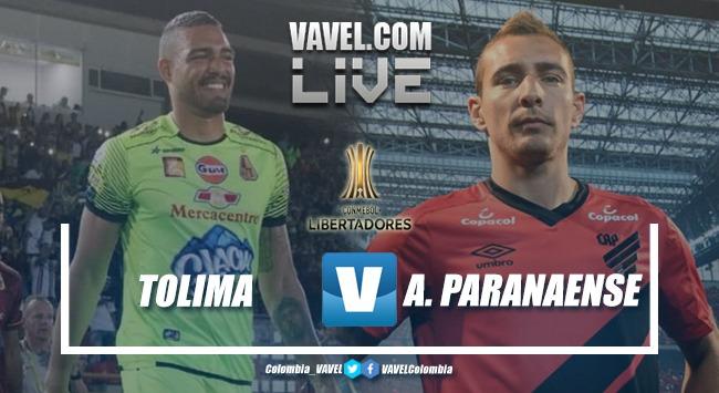 Resultado Deportes Tolima vs Atlético Paranaense EN VIVO por la Copa Conmebol Libertadores (1-0)