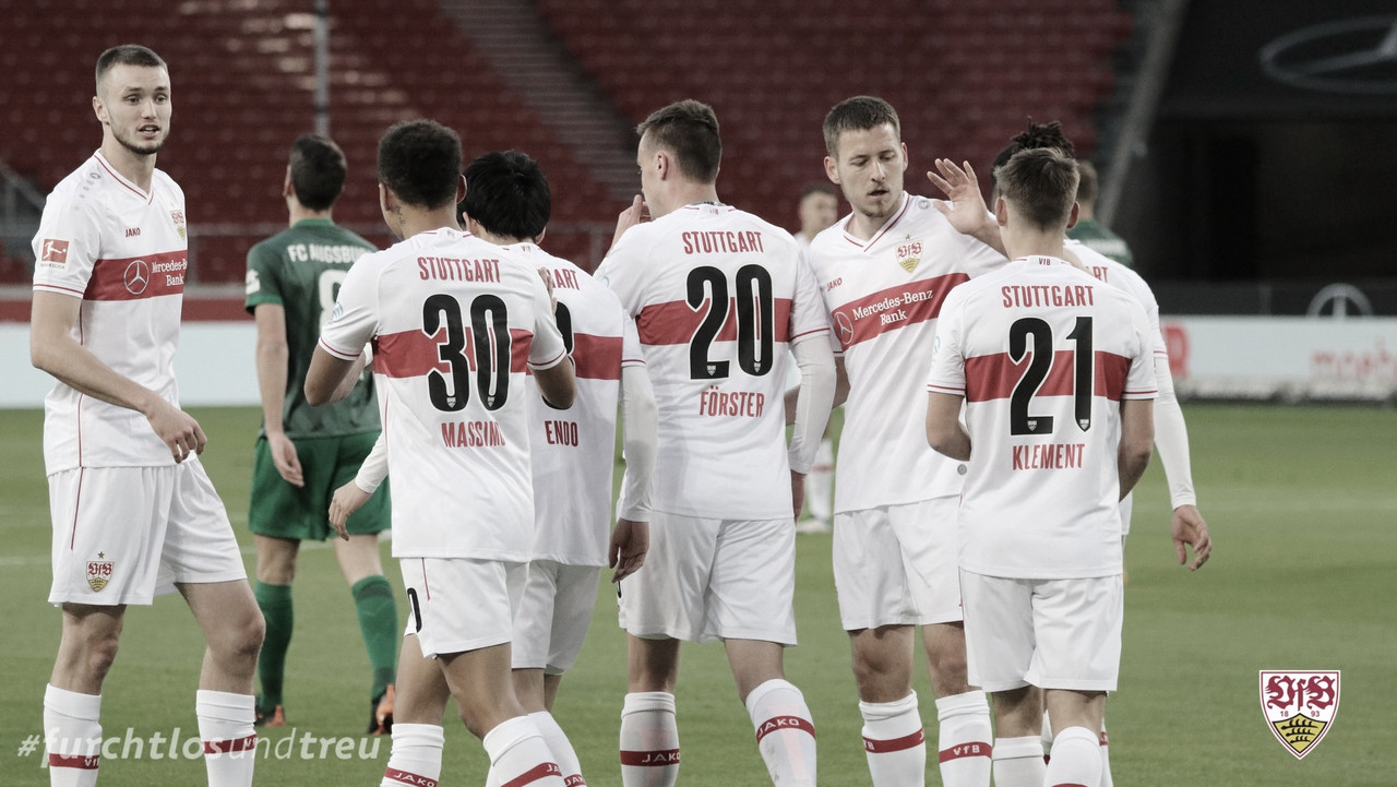 VfB Stuttgart sufre, pero se lleva una victoria contra FC Augsburg