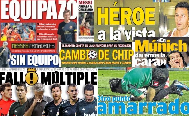 Las portadas del 17 de septiembre de 2012