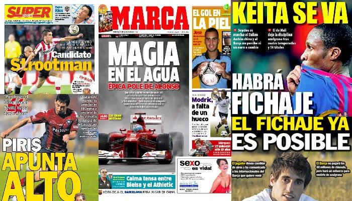 Las portadas del 8 de julio de 2012