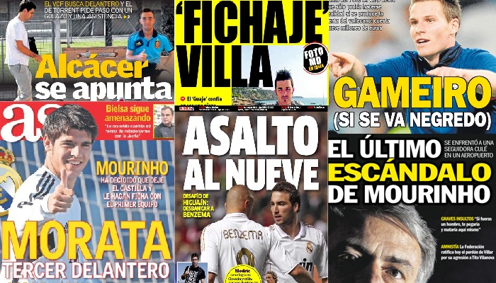 Las portadas del 10 de julio de 2012