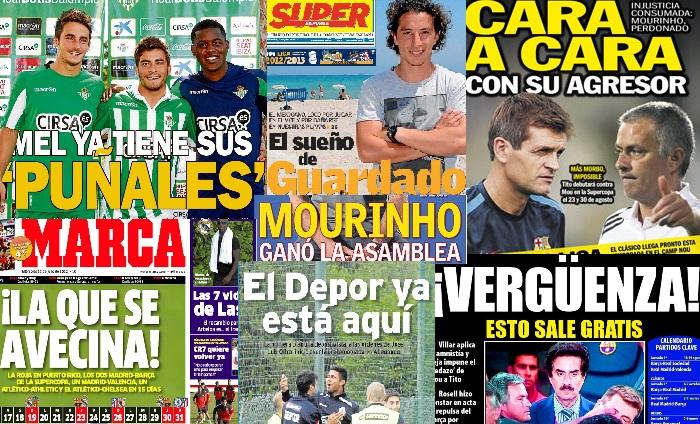 Las portadas del 11 de julio de 2012